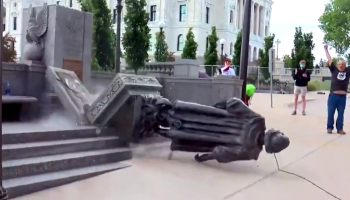 WATCH: Protesters Tear Down Christopher Columbus Statue in St. Paul; State Patrol Does Nothing
